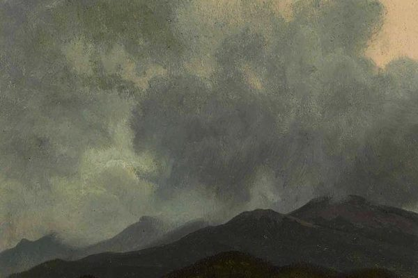 Albert Bierstadt, Turbulent Clouds, White Mountains, New Hampshire