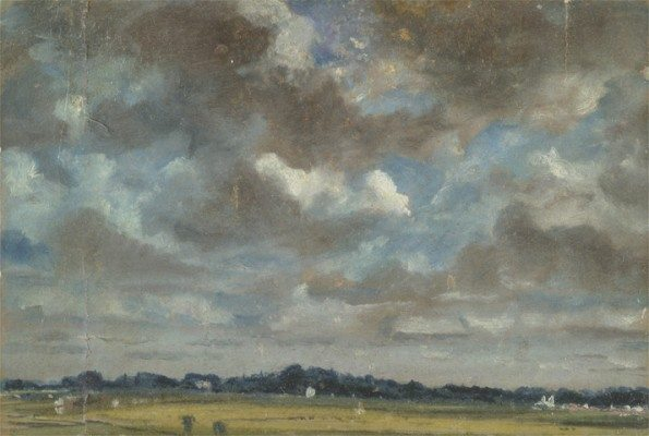 Constable, Extensive Landscape With Grey Clouds