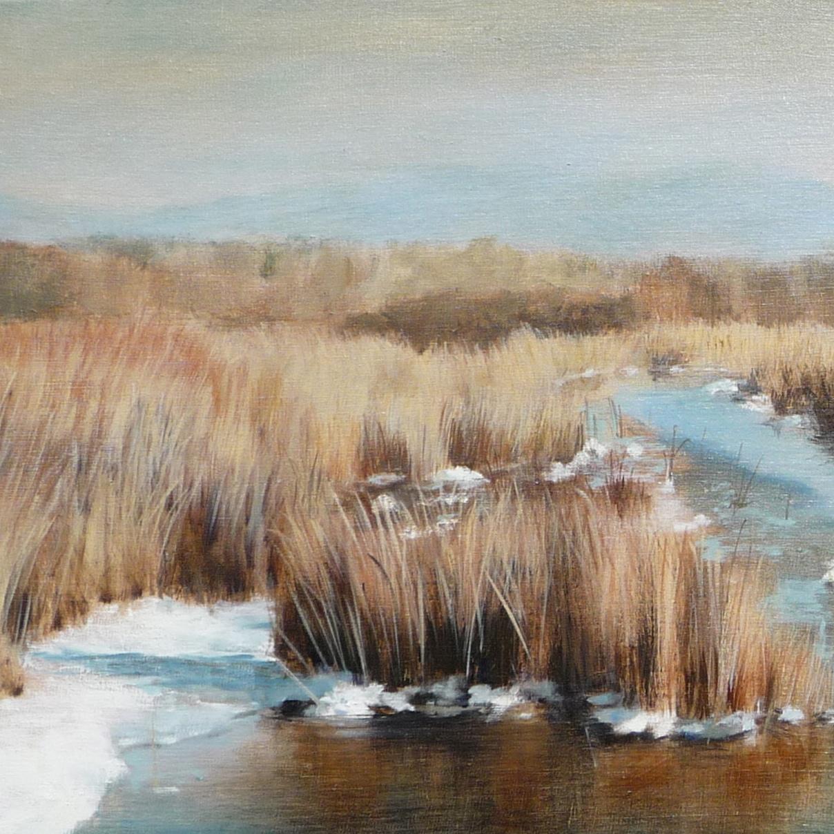 Ruthie V, Edison Slough in Snow (detail)