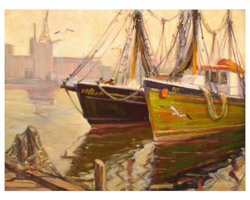 Gloucester Harbor Fishing Boats, Paul Ernest Goodrich (1912 - 1991)