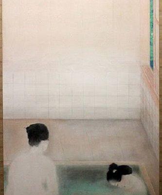 Hot Spring, 1921, Kobayashi Kokei