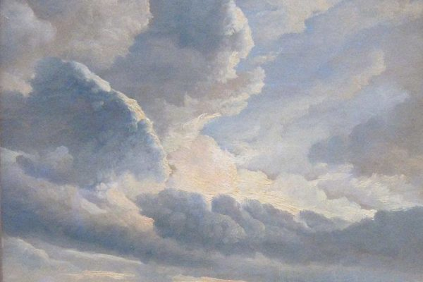 Simon Denis, Study of Clouds with Sunset near Rome