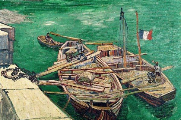Vincent Van Gogh, Landing Stage With Boats, 1888