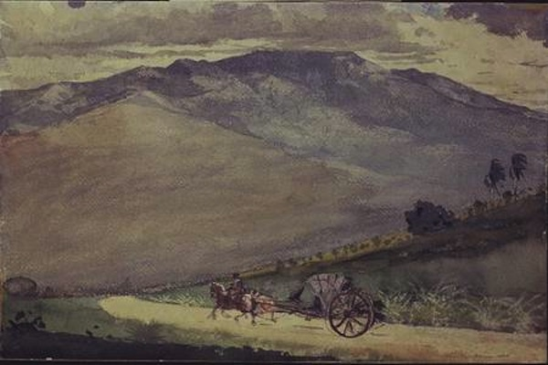 A Volante on a Mountain Road, Cuba, 1885