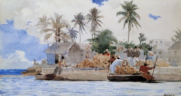 Sponge Fishermen, Bahamas (1885)