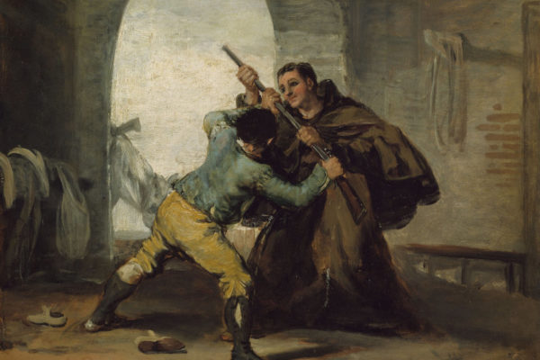Goya, Friar Pedro Wrests the gun from Maragato