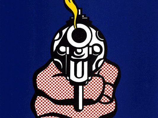 Roy Lichtenstein, The one in front of the gun lives forever
