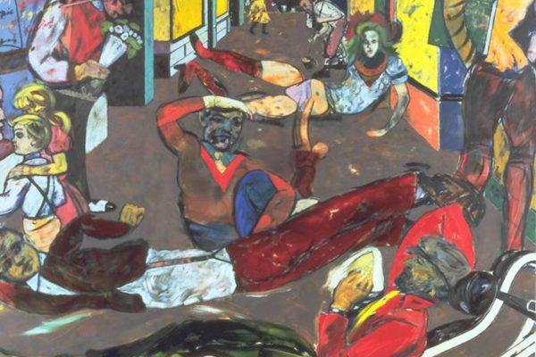 Cecil Court, London W.C.2. (The Refugees) 1983-4 R.B. Kitaj 1932-2007 Purchased 1985 http://www.tate.org.uk/art/work/T04115