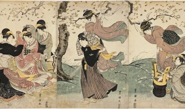 Utagawa Kuniyoshi: Flowers in the Wind