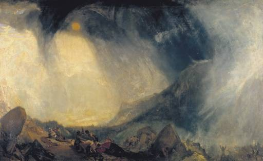 JMTurner, Snow Storm - Hannibal and his army crossing the alps 1812