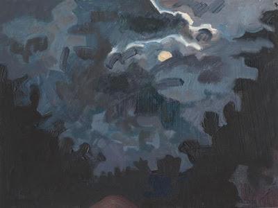 Lois Dodd, Approaching Storm Cloud, 1998