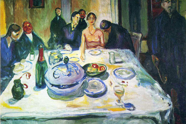 "Edvard Munch ""At the Dinner Table"""