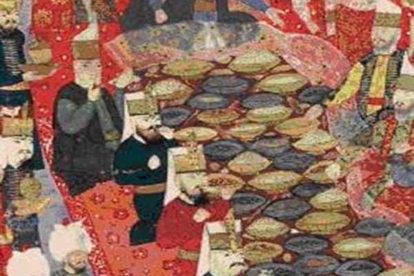 Ottoman painting of a Banquet 1578