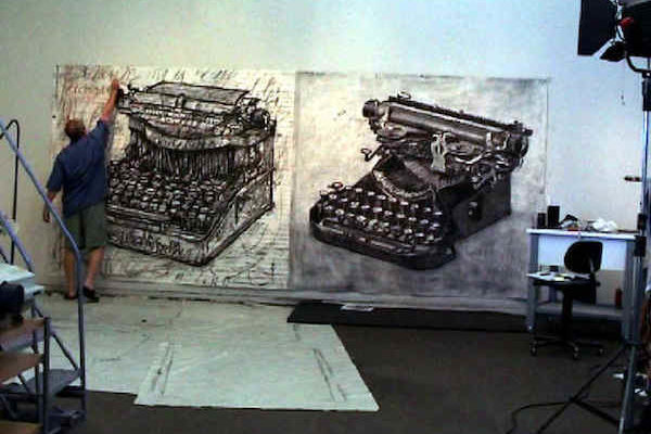artist_kentr_drawing_typewriters_studio