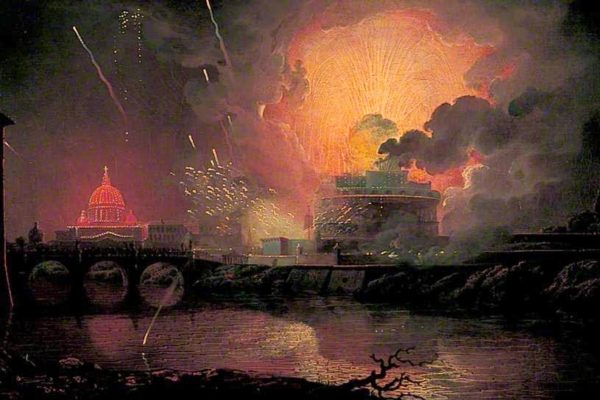 1774-78 Firework Display at Castel Sant'Angelo