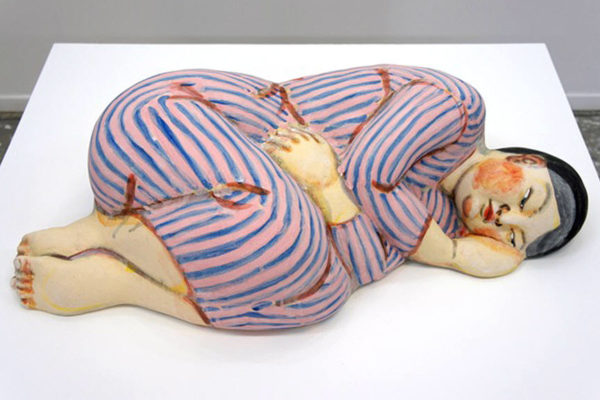 Akio_Takamori_Sleeper_in_Striped_Dress_2012_3287_377