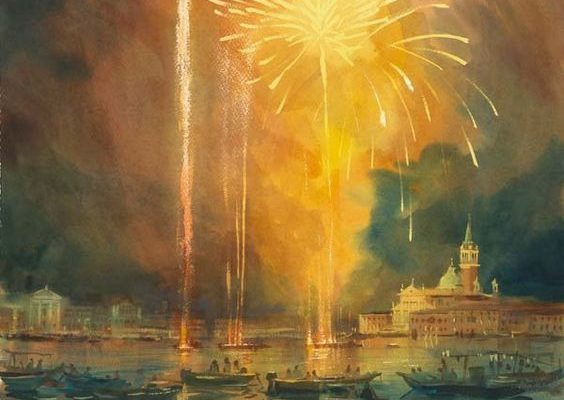 Alexander Creswell - Venice Redentore - Fireworks Study 3