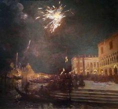 Fireworks, Venice, Gaston La Touche