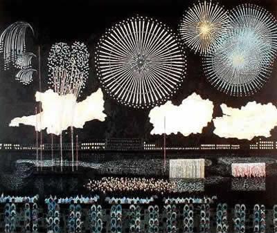 Fireworks in Ryogoku Kiyoshi YAMASHITA