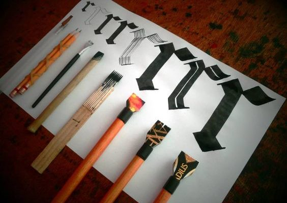 Homemade calligraphy tools