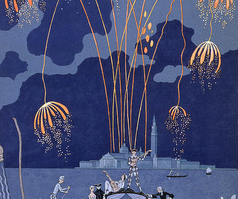 Fireworks in Venice, Georges Barbier