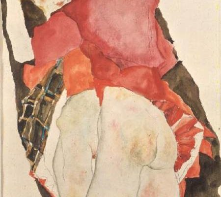 PHD42490 Lovers, 1911 by Schiele, Egon (1890-1918) Private Collection Austrian, out of copyright