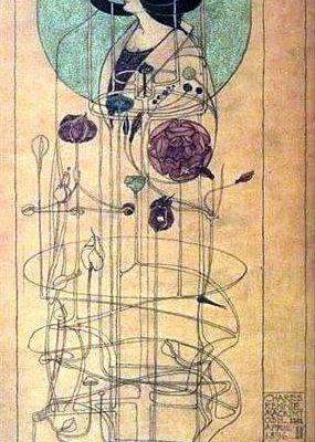 Charles Rennie Mackintosh, architect and artist, Part Seen Part Imagined