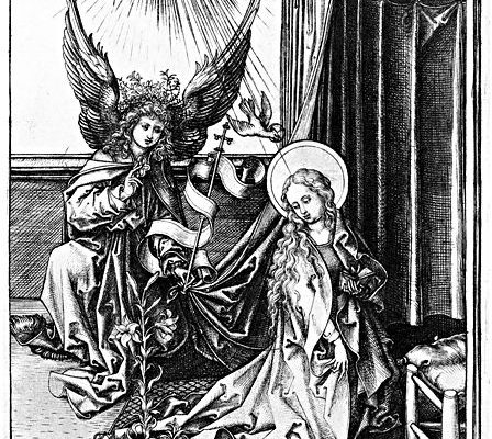 Martin Schongauer, engraver, Annunciation, 15th c