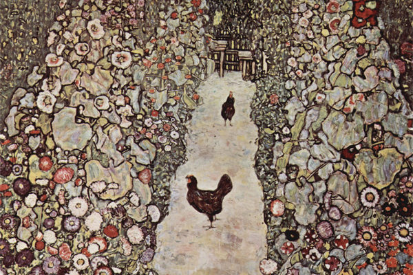 Gustav Klimt, Garden with Chickens, 1916