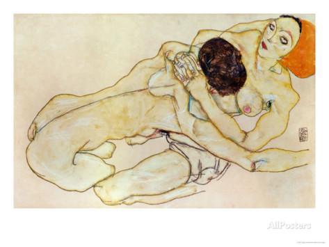 egon-schiele-two-girls-lovers-1914