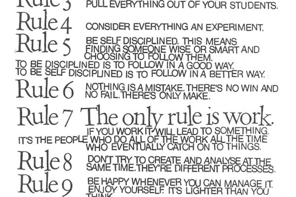 10 Rules for students and teachers