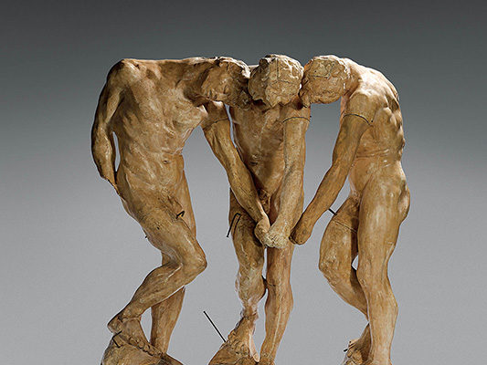 Auguste Rodin. Three Shades, small-sized model, 1897. Patinated plaster for bronze casting. Musée Rodin, Paris, S.3970. © Musée Rodin, Paris. Photo by Christian Baraja.