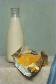 """Conor Walton, """"Milk and Butter"""", Oil on Panel. 2004"""