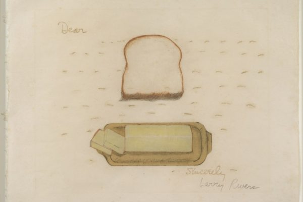 Larry Rivers, Bread and Butter, 1974, color lithograph on paper