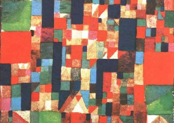 City Picture with Red and Green Accents, 1921, Paul Klee.