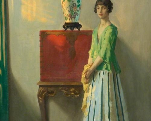 The Red Lacquer Cabinet by Archibald George Barnes (British, 1887–1972)