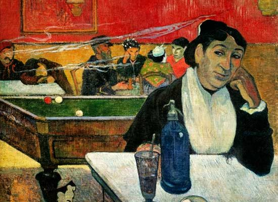 Gauguin, Mme. Ginoux in the Cafe at Arles (1888)