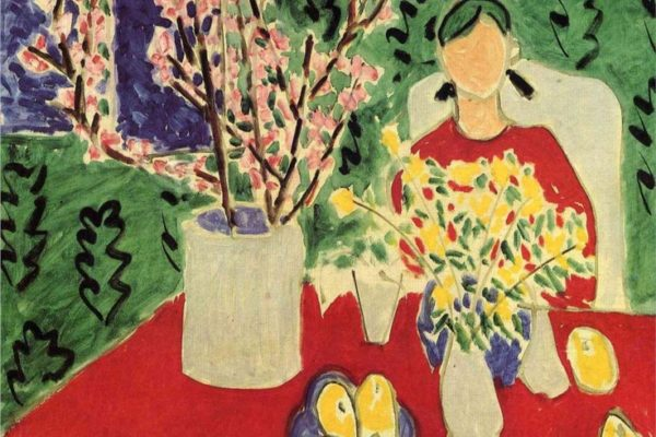 Plum Blossoms, Green Background 1948 Matisse