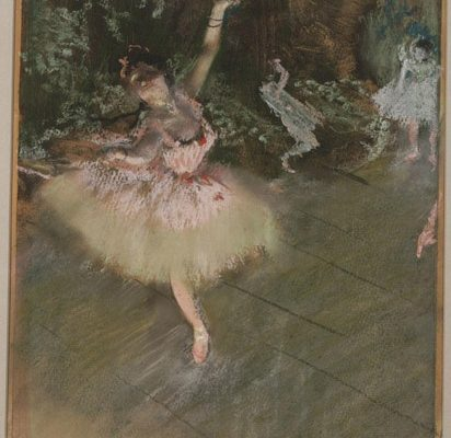 pastel over ink monotype degas