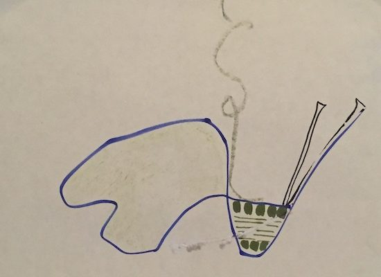 Day28 Start a -blue- line and make a dwg - steam and fragrance
